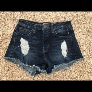 High Waisted Guess Jean Shorts